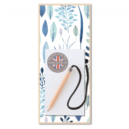 Blue Leaf Magnetic Notepad